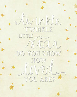 Twinkle Little Poster by Amy Cummings