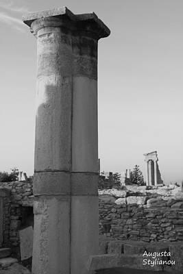Two Columns At Apollo Sanctuary Poster by Augusta Stylianou