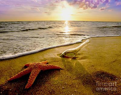 Two Friends On The Beach Poster by Jon Neidert