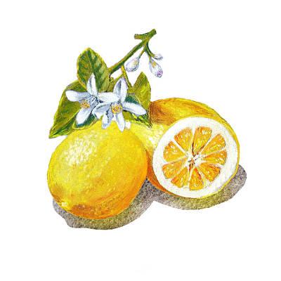 Two Happy Lemons Poster by Irina Sztukowski