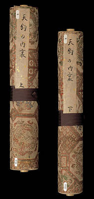 Two Japanese Scrolls Poster by British Library