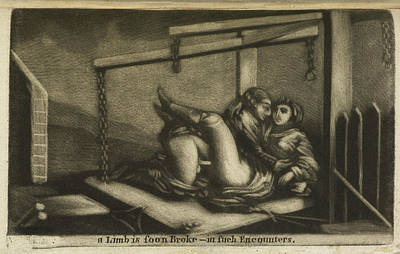 Two Lovers In An Embrace Poster by British Library