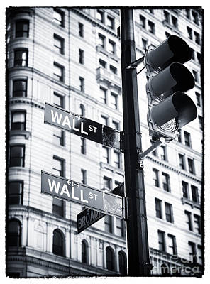 Two Times Wall St. Poster by John Rizzuto