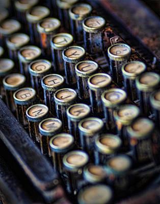 Typewriter Keys Poster by David and Carol Kelly