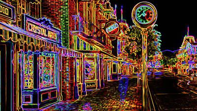 Ultra Neon Main Street Poster by Ron Fleishman