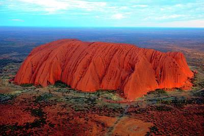 Uluru (ayers Rock) At Sunset Poster by Bildagentur-online/mcphoto-schulz