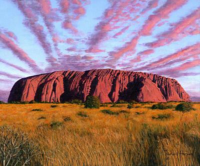 Uluru Sunset Ayers Rock Central Australia Poster by Richard Harpum