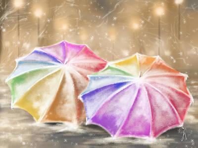 Umbrellas Poster by Veronica Minozzi