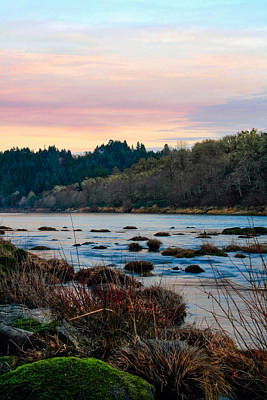 Umpqua Sunset Poster by Pamela Winders