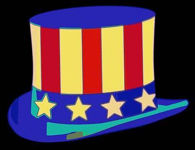 Uncle Sam Hat Pop Art Poster by Florian Rodarte