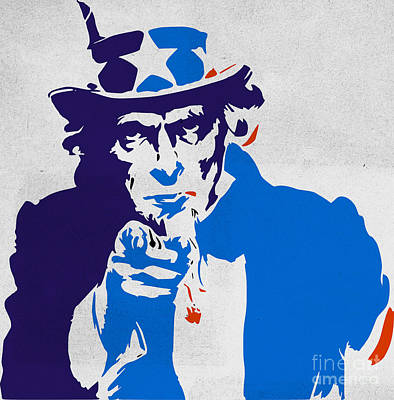 Uncle Sam Poster by T Lang