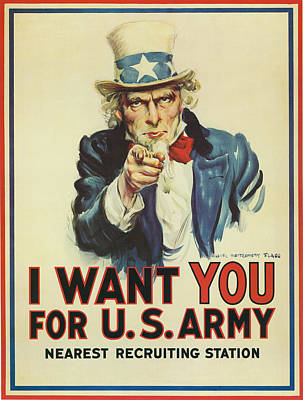 Uncle Sam Wants You Poster by Underwood Archives