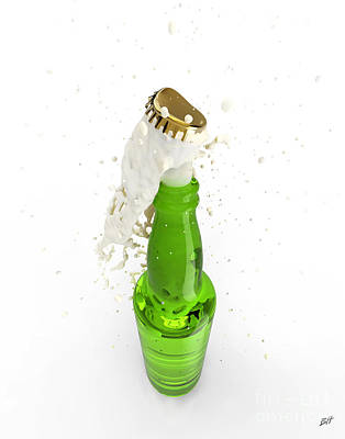 Uncorked Bottle Of Beer Poster by Bruno Haver