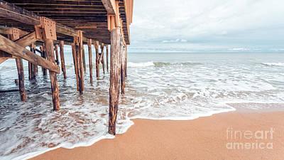 Under The Boardwalk Salsibury Beach Poster by Edward Fielding