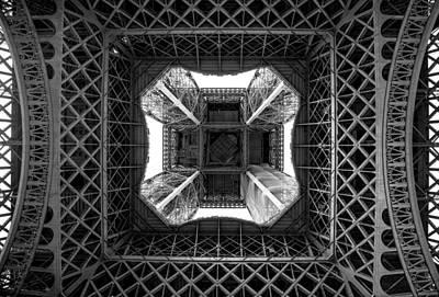 Under The Eiffel Poster by Aaron Aldrich