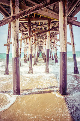 Under The Pier In Southern California Picture Poster by Paul Velgos