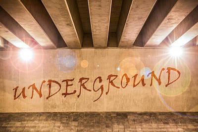 Underground Poster by Semmick Photo