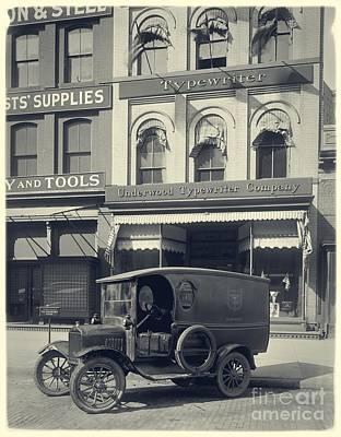 Underwood Typewriter Factory Poster by Edward Fielding