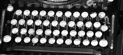 Underwood Typewriter Keys Poster by Dan Sproul