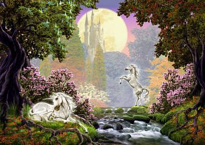 Unicorn New Born Poster by Garry Walton