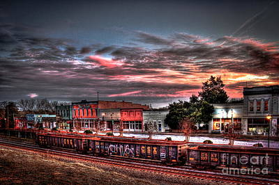 Union Point Ga Sunset Poster by Reid Callaway