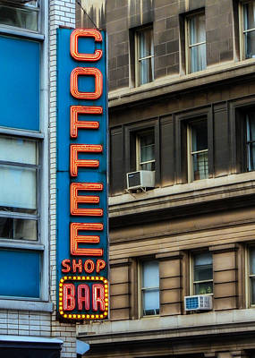 Union Square Coffee Shop Sign Poster by Jon Woodhams