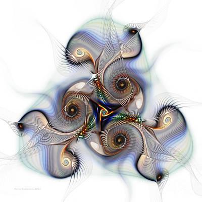 Unison Fractal Art Poster by Karin Kuhlmann