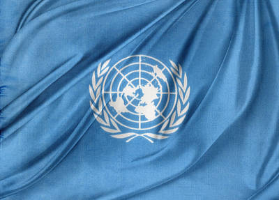 United Nations Poster by Les Cunliffe