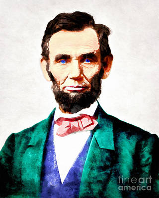 United States President Abraham Lincoln 20140914wc V2 Poster by Wingsdomain Art and Photography