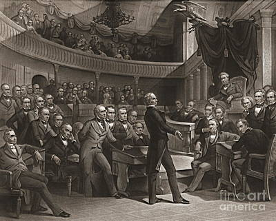 United States Senate 1850 Poster by Padre Art