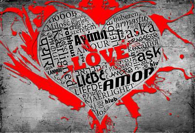 Universal Love Poster by Pedro Correa