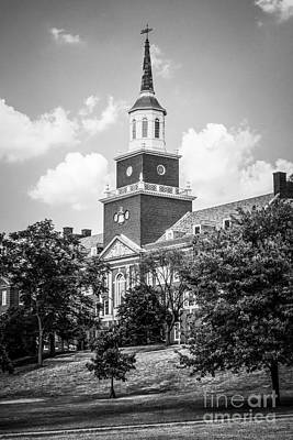 University Of Cincinnati Black And White Picture Poster by Paul Velgos