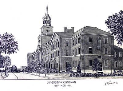 University Of Cincinnati Poster by Frederic Kohli
