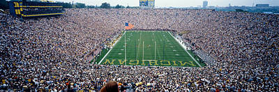 University Of Michigan Football Game Poster by Panoramic Images