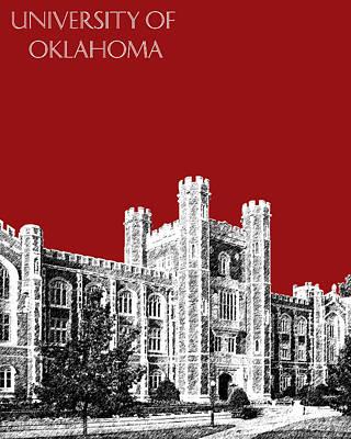 University Of Oklahoma - Dark Red Poster by DB Artist