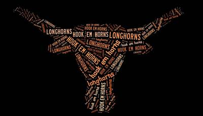 University Of Texas Poster by Linda Brown