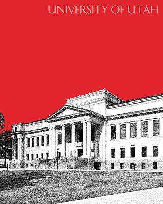 University Of Utah - Red Poster by DB Artist