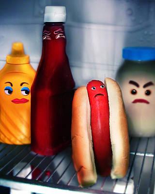 Hot Dog Poster by Diane Bradley