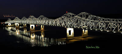Natchez Bridges Poster by Leon Hollins III