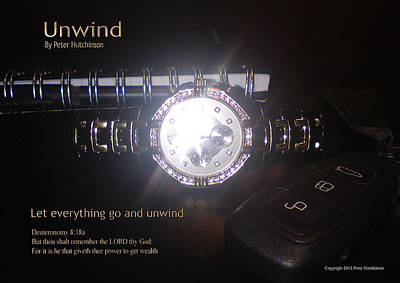 Unwind Poster by Bible Verse Pictures