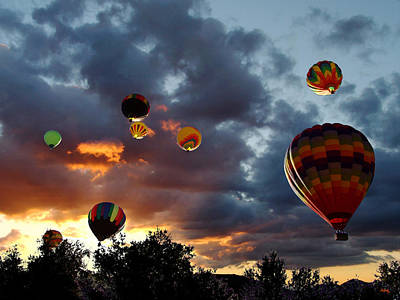 Up Up And Away - Hot Air Balloons Poster by Glenn McCarthy