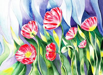 Upcoming Wind Poppy Field Poster by Irina Sztukowski