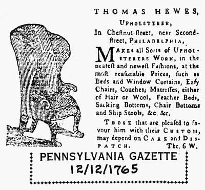 Upholsterer, 1765 Poster by Granger