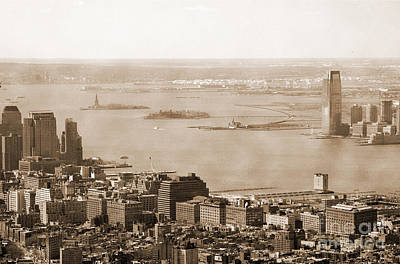 Upper New York Bay Vintage Poster by RicardMN Photography