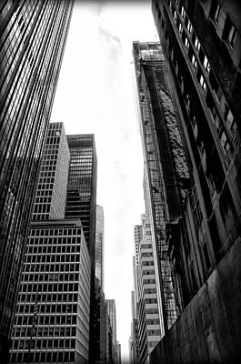 Urban Canyon - New York City Poster by Bill Cannon