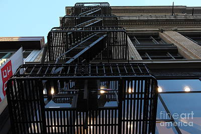 Urban Fabric - Fire Escape Stairs - 5d20593 Poster by Wingsdomain Art and Photography