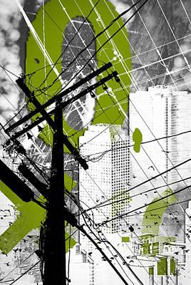 Urban Grunge Green Poster by Melissa Smith