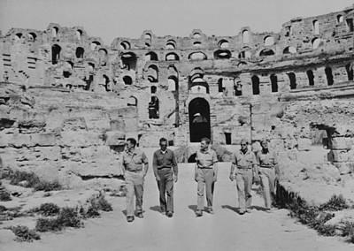 U.s. Airmen Tour The Ruins Of A Roman Poster by Everett