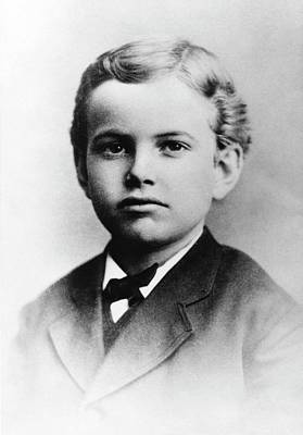 Us Astronomer George Hale As A Boy Poster by Emilio Segre Visual Archives/american Institute Of Physics