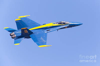 Us Navy Blue Angels F18 Supersonic Jets 5d29660 Poster by Wingsdomain Art and Photography